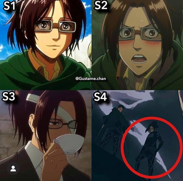 Ngắm quá trình dậy thì nhan sắc của dàn nhân vật Attack On Titan qua 4 Season anime - Ảnh 9.