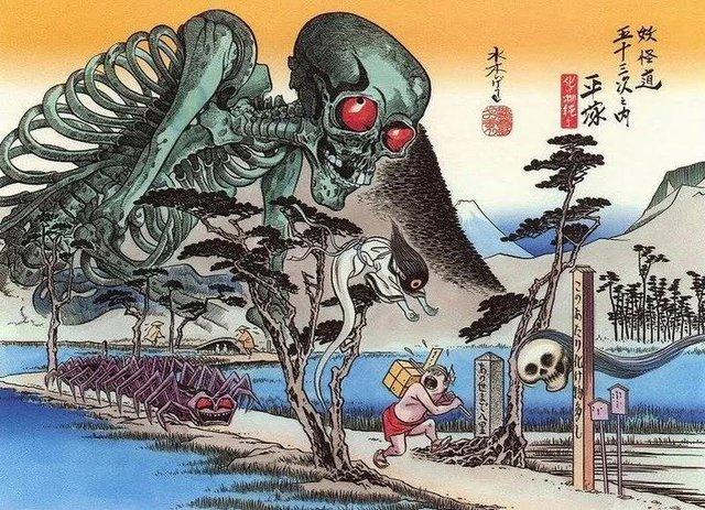 Yêu tinh xương Gashadokuro: Truyền thuyết kinh dị và nỗi sợ hãi ẩn sâu trong những khu rừng tại Nhật Bản - Ảnh 5.