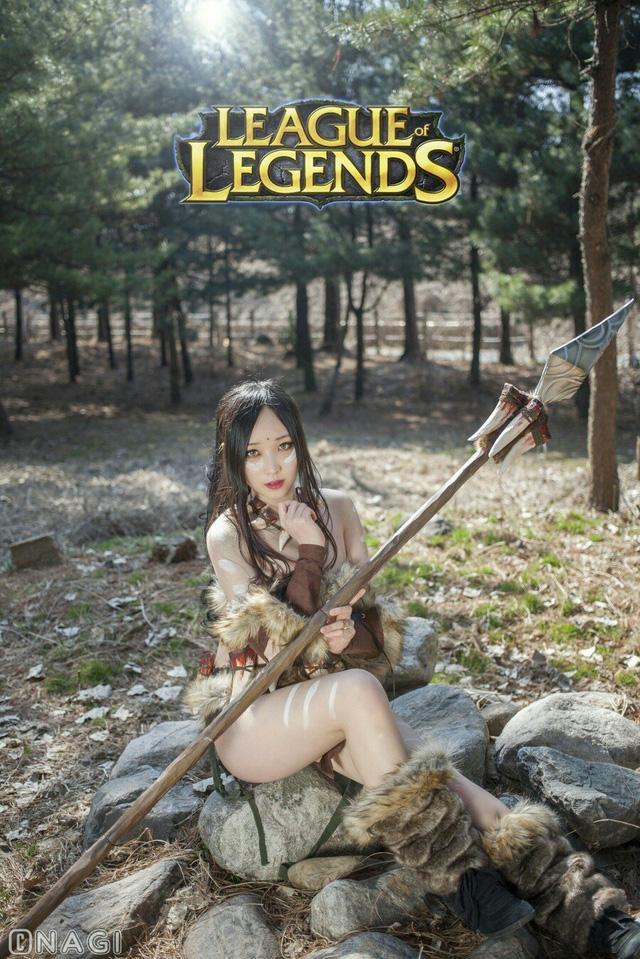 Rạo rực với cosplay Nidalee tâm hồn căng mọng, trắng hồng từng milimet của nữ coser Hàn Quốc - Ảnh 12.