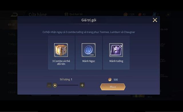 Liên Quân Mobile: Garena gây sốc, game thủ nhận FREE 3 combo tướng kèm skin chỉ với 500 vàng - Ảnh 2.
