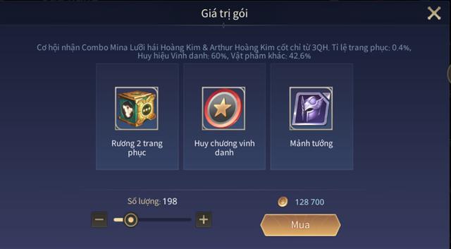 Liên Quân Mobile: Game thủ trúng skin bậc S+ từng có giá 300 nghìn đồng chỉ với 650 vàng - Ảnh 1.