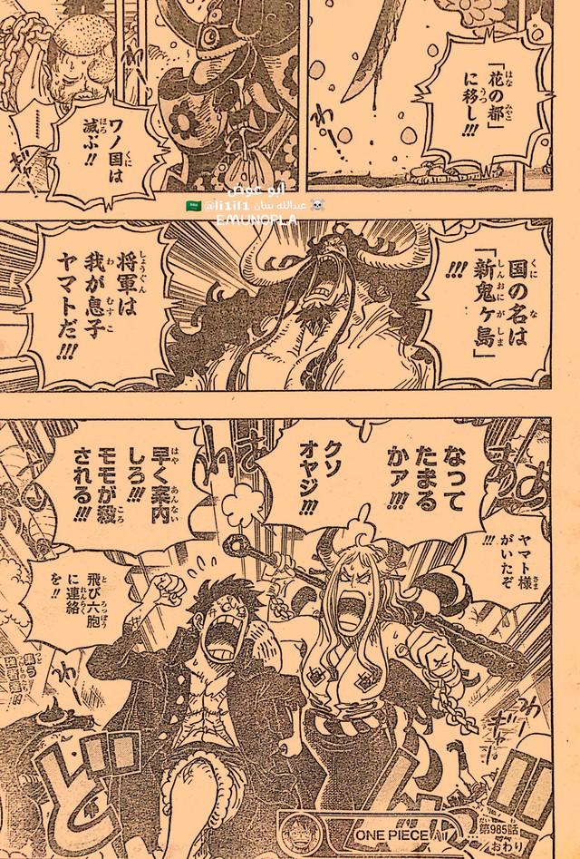 Những hình ảnh ấn tượng nhất trong One Piece chapter 985, Luffy và Yamato bắt đầu hành động - Ảnh 6.