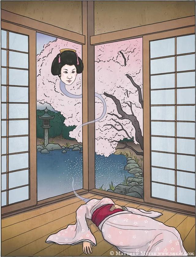 Rokuro Kubi: Ma nữ cổ dài ngoằng gây ám ảnh ở Nhật Bản - Ảnh 2.