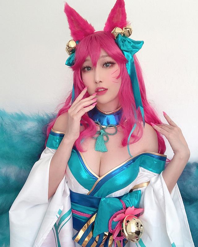 Chìm vào tiên cảnh với bộ ảnh cosplay Ahri Chiêu Hồn Thiên Hồ đậm chất phồn thực - Ảnh 5.