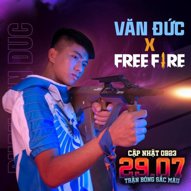 Free Fire chơi lớn kết hợp cùng Văn Đức - Ra mắt nhân vật siêu cầu thủ, xuất hiện súng trường AUG, Đảo Quân Sự khoác áo mới - Ảnh 1.