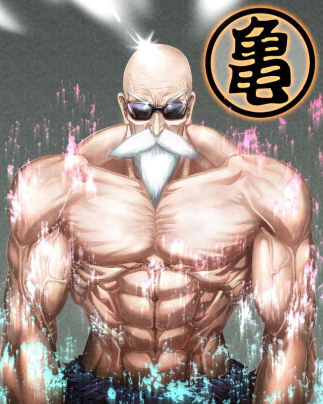 Loạt tranh cực đỉnh về Master Roshi cho thấy gừng càng già càng cay chớ vội coi thường lão già mê gái này nhé! - Ảnh 2.