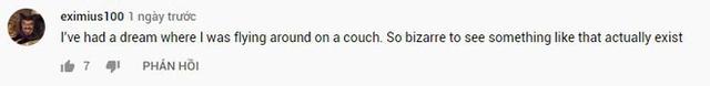 """Thanh niên """"chill"""" nhất năm: Nhảy dù bằng ghế sofa, ngồi giữa không trung xem Tom & Jerry nhàn nhã - Ảnh 6."""