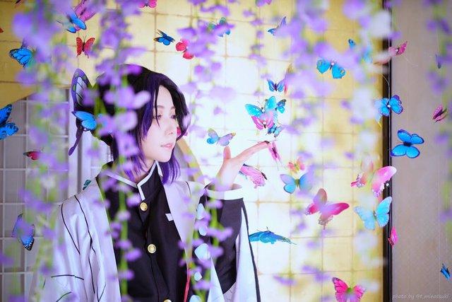 Ngắm loạt ảnh cosplay đẹp mắt của nữ thần 18+ Yui Hatano vào vai Trùng Trụ trong Kimetsu no Yaiba - Ảnh 2.