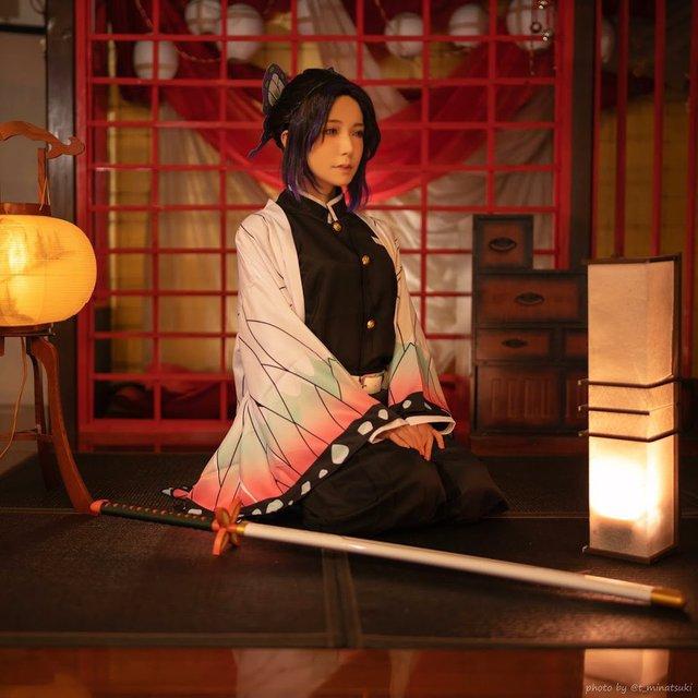 Ngắm loạt ảnh cosplay đẹp mắt của nữ thần 18+ Yui Hatano vào vai Trùng Trụ trong Kimetsu no Yaiba - Ảnh 6.