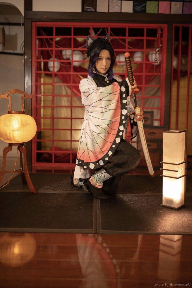 Ngắm loạt ảnh cosplay đẹp mắt của nữ thần 18+ Yui Hatano vào vai Trùng Trụ trong Kimetsu no Yaiba - Ảnh 7.