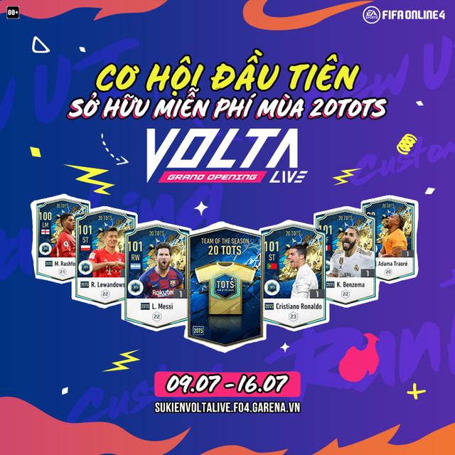 Game thủ phấn khích với sự kiện quẩy rank Volta Live mới của FIFA Online 4: Nhận miễn phí 20TOTS, Hùng Dũng +8... - Ảnh 2.