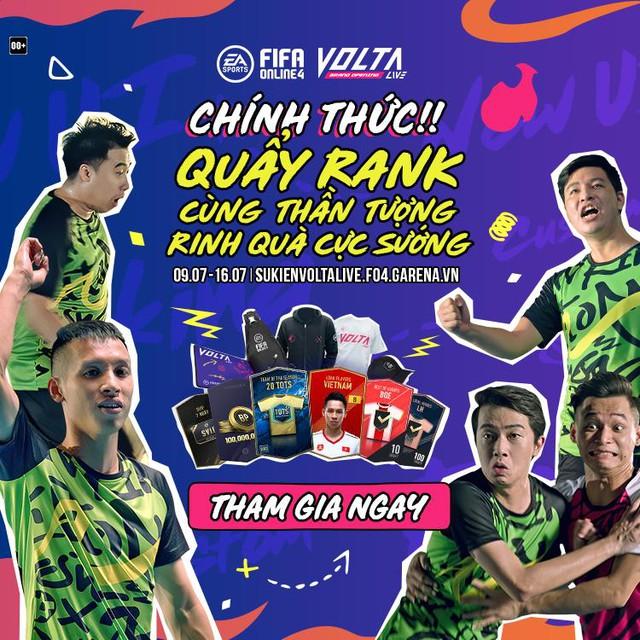Game thủ phấn khích với sự kiện quẩy rank Volta Live mới của FIFA Online 4: Nhận miễn phí 20TOTS, Hùng Dũng +8... - Ảnh 1.