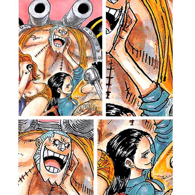 One Piece: Vuốt má thợ đóng tàu đầy tình cảm, các fan tích cực đẩy thuyền cho Robin đến với Franky - Ảnh 2.