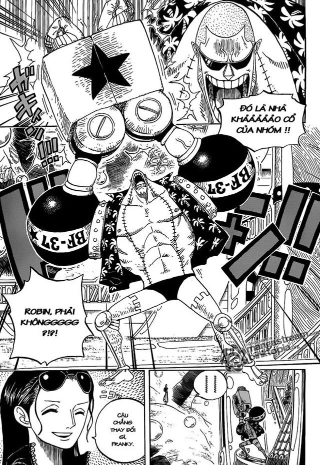 One Piece: Vuốt má thợ đóng tàu đầy tình cảm, các fan tích cực đẩy thuyền cho Robin đến với Franky - Ảnh 3.