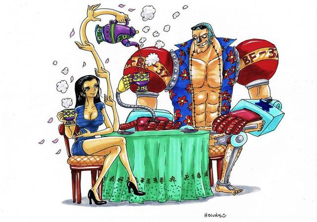 One Piece: Vuốt má thợ đóng tàu đầy tình cảm, các fan tích cực đẩy thuyền cho Robin đến với Franky - Ảnh 4.