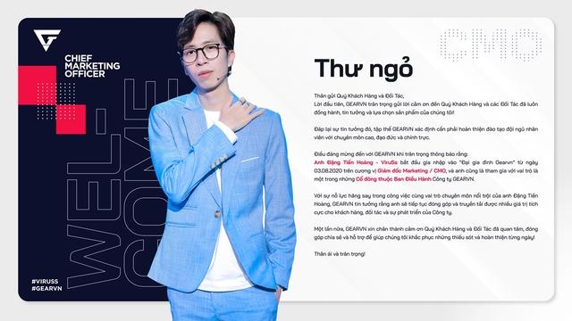 Bá đạo như ViruSs, vừa làm streamer, nhạc sĩ nay lại còn kiêm luôn CMO, cổ đông của công ty công nghệ hàng đầu Việt Nam - Ảnh 2.