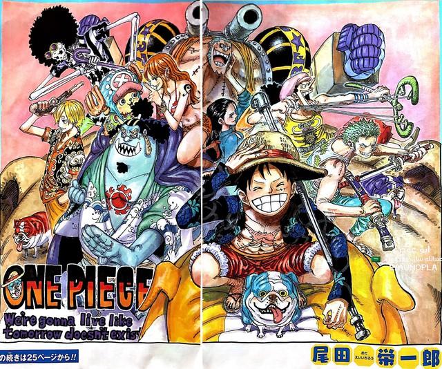 One Piece: Luffy cầm vũ khí của Sabo xuất hiện trên ảnh bìa chap mới, phải chăng sẽ có biến xảy ra? - Ảnh 1.