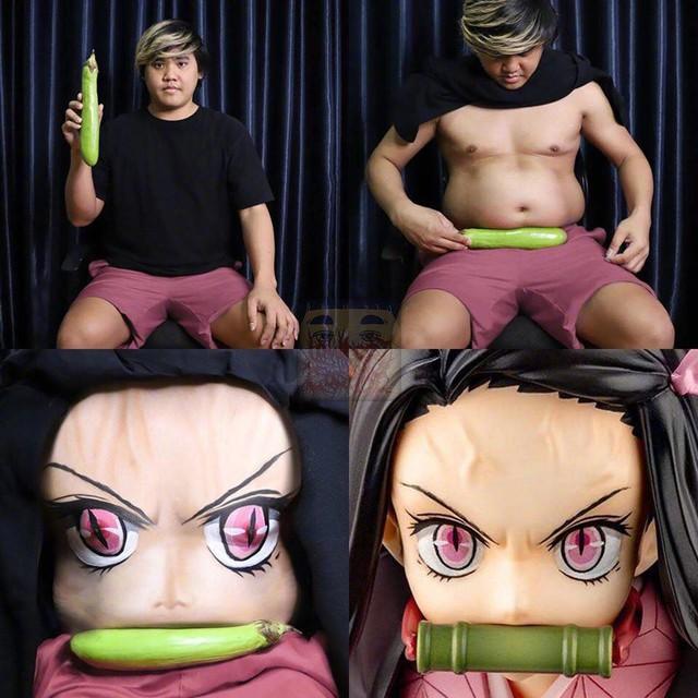 Cười chảy nước mắt với loạt hình Kimetsu no Yaiba cực bựa của thánh cosplay giá rẻ - Ảnh 12.