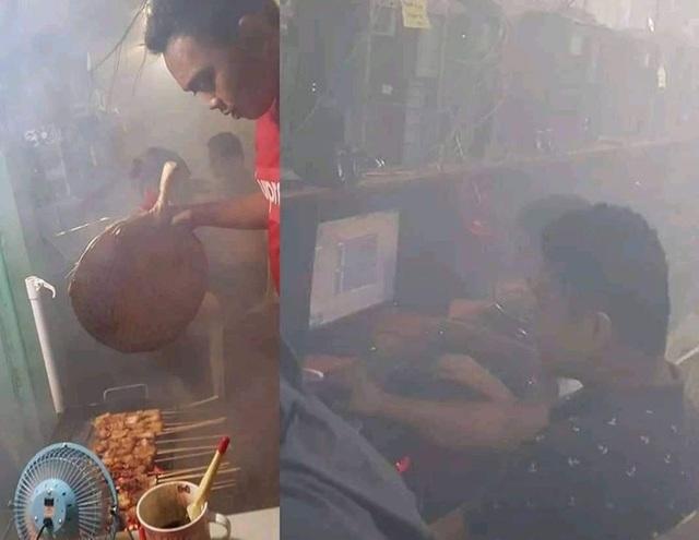 """Đắng lòng! Đi chơi net bị chủ quán """"thui"""" vì khói nướng thịt - Ảnh 1."""