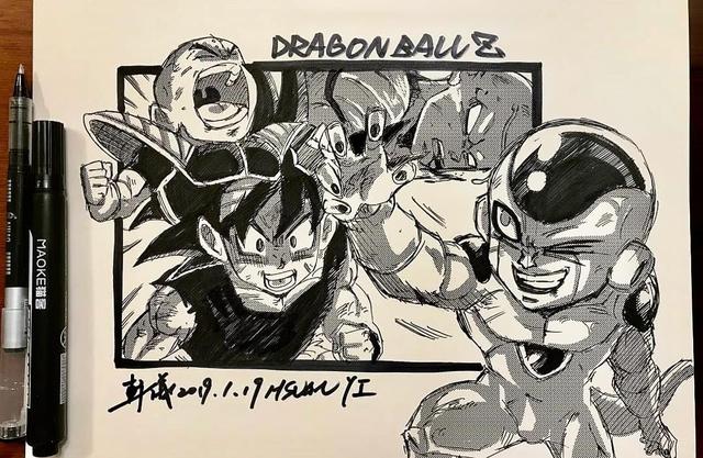 Dragon Ball: Mãn nhãn xem lại cuộc chiến giữa Frieza với Goku và nhóm chiến binh Z được tóm tắt qua tranh vẽ - Ảnh 1.