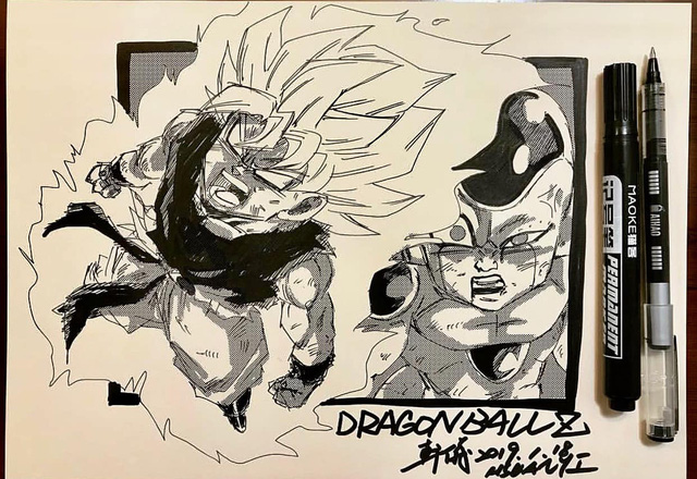 Dragon Ball: Mãn nhãn xem lại cuộc chiến giữa Frieza với Goku và nhóm chiến binh Z được tóm tắt qua tranh vẽ - Ảnh 3.