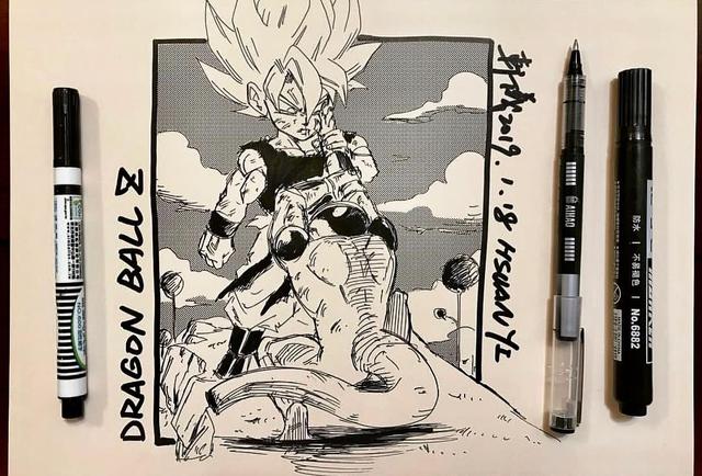 Dragon Ball: Mãn nhãn xem lại cuộc chiến giữa Frieza với Goku và nhóm chiến binh Z được tóm tắt qua tranh vẽ - Ảnh 4.