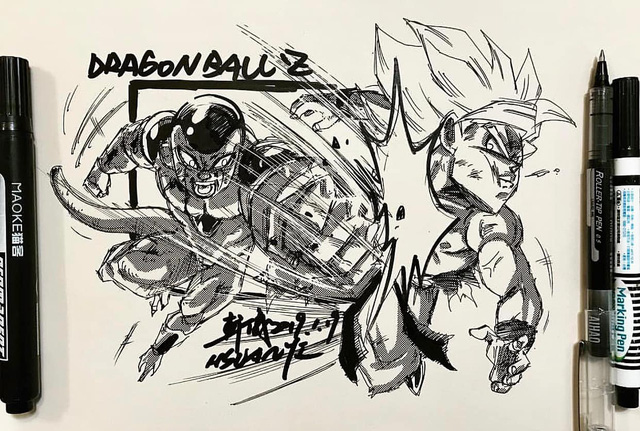 Dragon Ball: Mãn nhãn xem lại cuộc chiến giữa Frieza với Goku và nhóm chiến binh Z được tóm tắt qua tranh vẽ - Ảnh 8.
