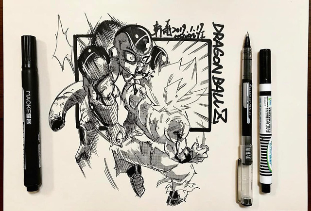 Dragon Ball: Mãn nhãn xem lại cuộc chiến giữa Frieza với Goku và nhóm chiến binh Z được tóm tắt qua tranh vẽ - Ảnh 9.