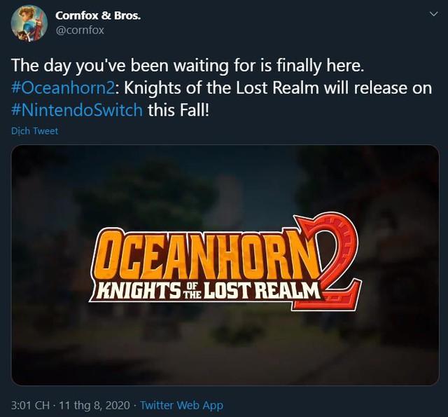 Oceanhorn 2: Knights of the Lost Realm sẽ đến Nintendo Switch vào mùa thu này - Ảnh 2.