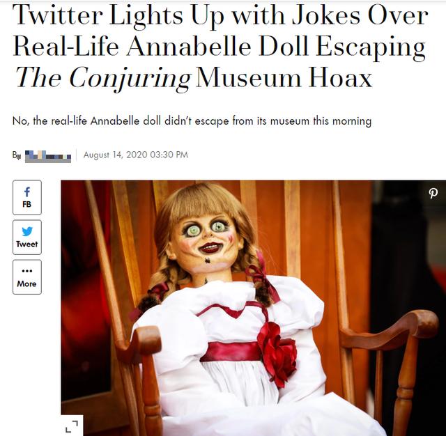Rộ tin đồn búp bê Annabelle bất ngờ biến mất bí ẩn khỏi bảo tàng Warren, cộng đồng mạng xôn xao, lo sợ - Ảnh 4.