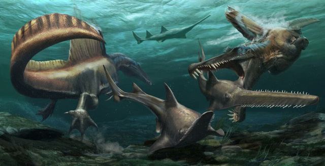 Top 10 loài khủng long nguy hiểm nhất thời tiền sử, khủng long bạo chúa vẫn còn hiền chán - Ảnh 3.