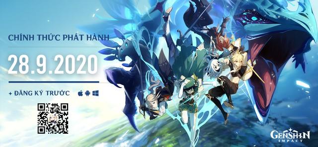 Siêu phẩm thế giới mở Genshin Impact ấn định ngày phát hành, đã cho đăng ký trước và game thủ Việt không bị bỏ rơi - Ảnh 2.