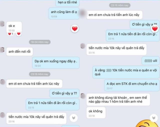 Gạ bạn gái mới quen đi nhà nghỉ ngay lần đầu hẹn hò bất thành, nam thanh niên trở mặt, về nhà nhắn tin đòi 10k tiền nước mía - Ảnh 2.