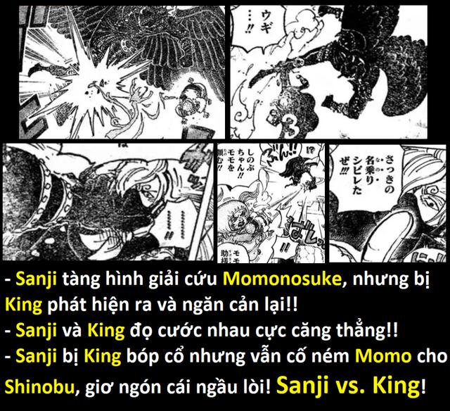 Sanji xuất hiện và giải cứu thành công Momonosuke