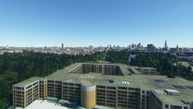 """Dù sử dụng đến """"2 triệu GB"""" nhưng Flight Simulator vẫn biến Cung điện Buckingham thành chung cư cũ mèm - Ảnh 1."""