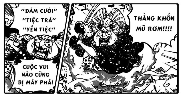 Big Mom tức giận khi Luffy luôn là kẻ phá hoại các bữa tiệc của bà ta