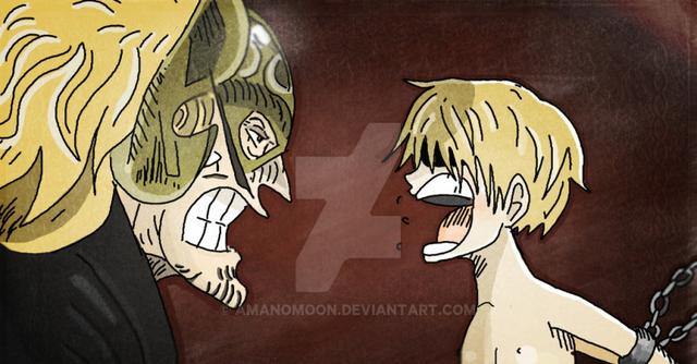 Sanji từng phải chịu nhiều đau khổ bởi cha của mình