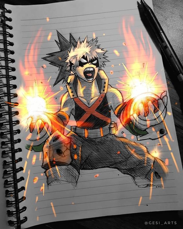 Siêu ấn tượng trước loạt ảnh các nhân vật anime phát sáng, đỉnh cao của fanart là đây chứ đâu! - Ảnh 8.