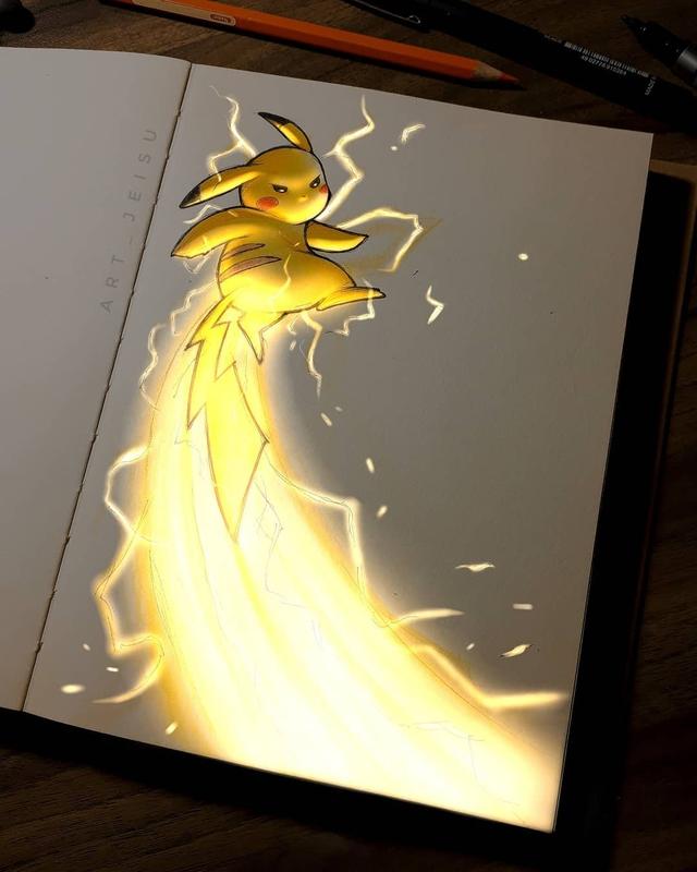 Siêu ấn tượng trước loạt ảnh các nhân vật anime phát sáng, đỉnh cao của fanart là đây chứ đâu! - Ảnh 15.