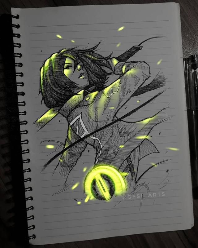 Siêu ấn tượng trước loạt ảnh các nhân vật anime phát sáng, đỉnh cao của fanart là đây chứ đâu! - Ảnh 18.
