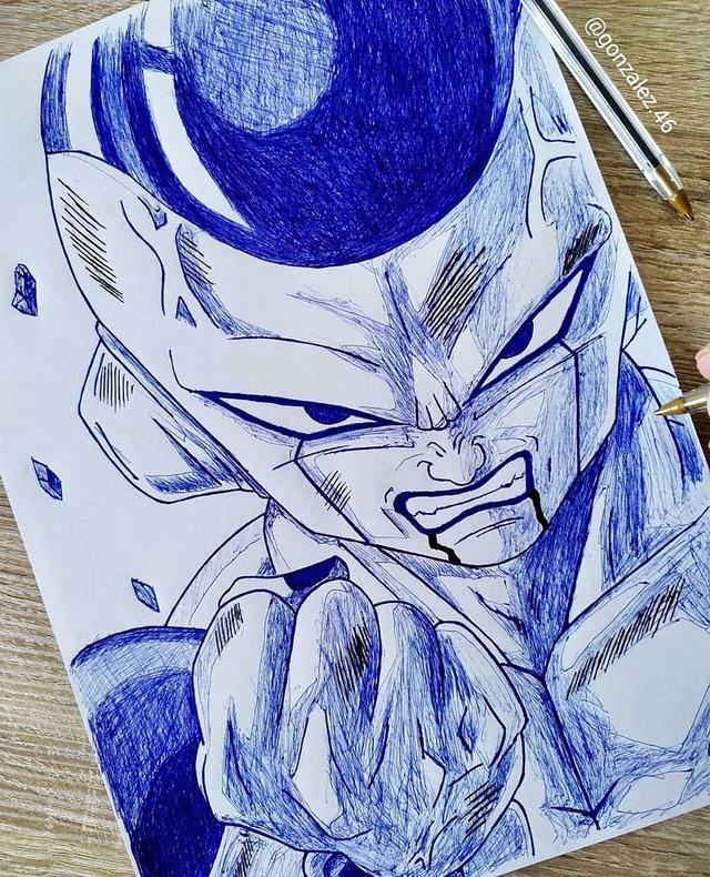 Mãn nhãn khi ngắm loạt ảnh vẽ lại các nhân vật trong Dragon Ball bằng bút bi - Ảnh 1.