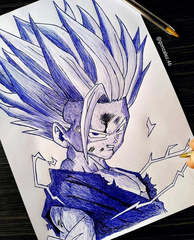 Mãn nhãn khi ngắm loạt ảnh vẽ lại các nhân vật trong Dragon Ball bằng bút bi - Ảnh 3.