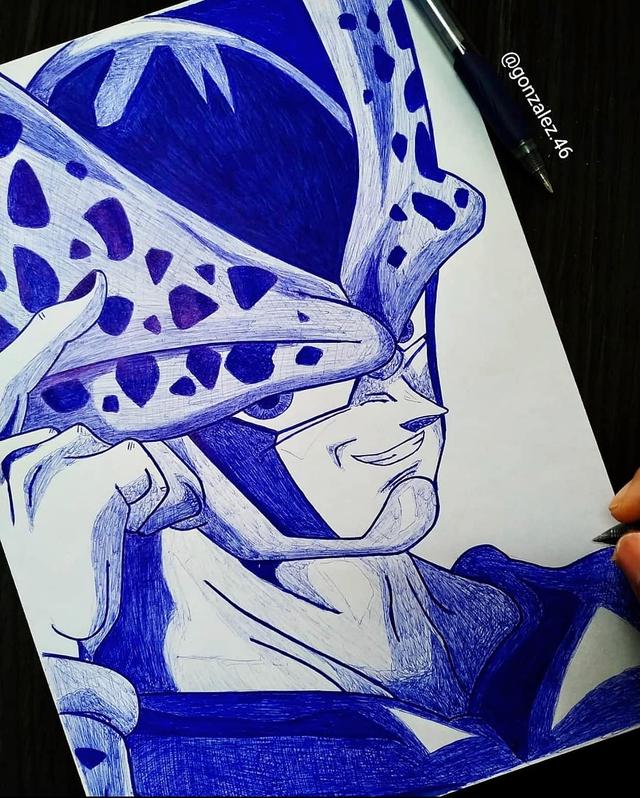 Mãn nhãn khi ngắm loạt ảnh vẽ lại các nhân vật trong Dragon Ball bằng bút bi - Ảnh 4.