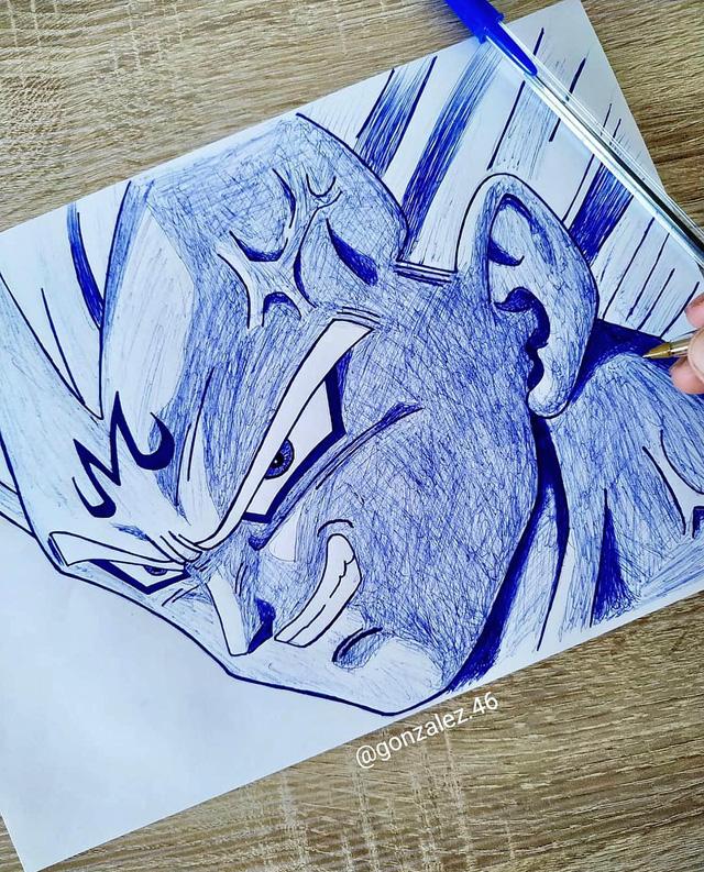 Mãn nhãn khi ngắm loạt ảnh vẽ lại các nhân vật trong Dragon Ball bằng bút bi - Ảnh 6.