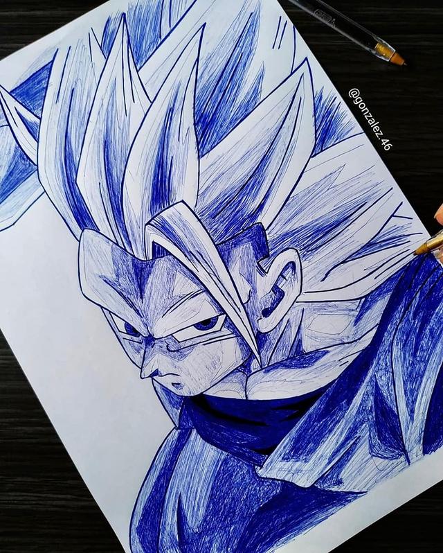 Mãn nhãn khi ngắm loạt ảnh vẽ lại các nhân vật trong Dragon Ball bằng bút bi - Ảnh 7.