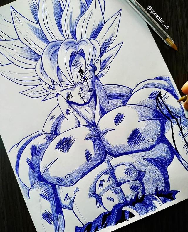 Mãn nhãn khi ngắm loạt ảnh vẽ lại các nhân vật trong Dragon Ball bằng bút bi - Ảnh 8.