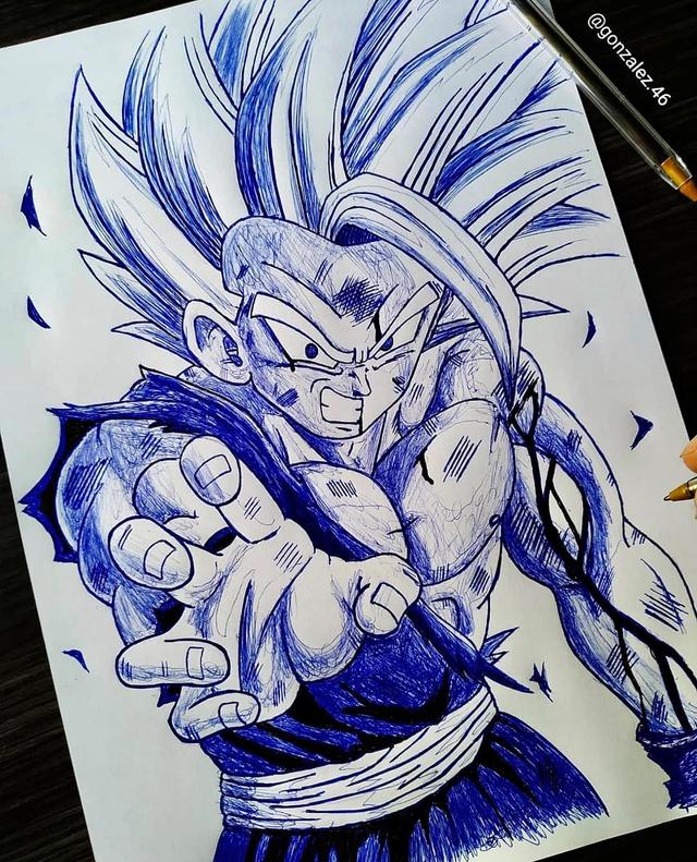 Mãn nhãn khi ngắm loạt ảnh vẽ lại các nhân vật trong Dragon Ball bằng bút bi - Ảnh 10.