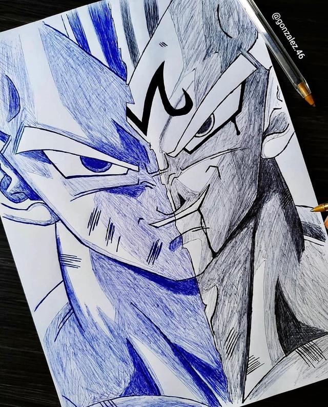 Mãn nhãn khi ngắm loạt ảnh vẽ lại các nhân vật trong Dragon Ball bằng bút bi - Ảnh 11.