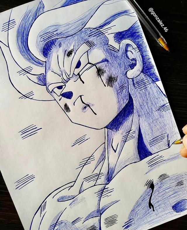 Mãn nhãn khi ngắm loạt ảnh vẽ lại các nhân vật trong Dragon Ball bằng bút bi - Ảnh 12.