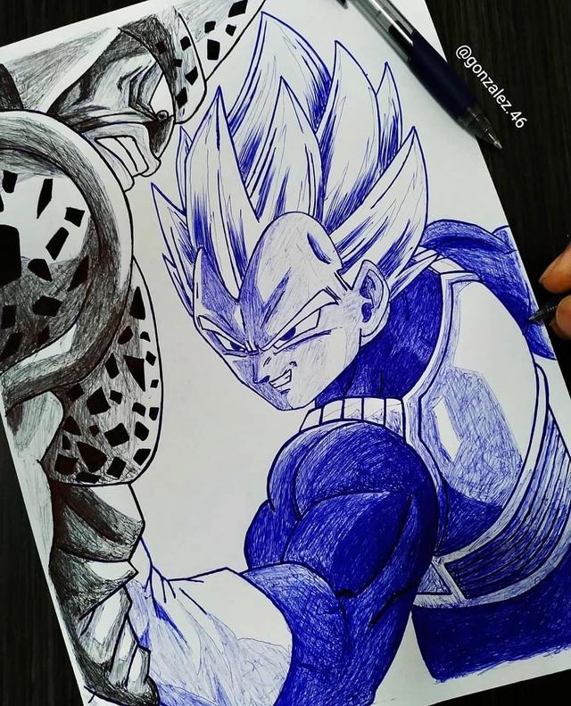 Mãn nhãn khi ngắm loạt ảnh vẽ lại các nhân vật trong Dragon Ball bằng bút bi - Ảnh 14.